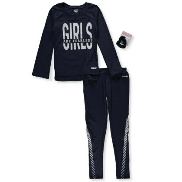 d7a7ab1966f NWT  girls 3pc set navy blue size 10 12. Boutique. Justice